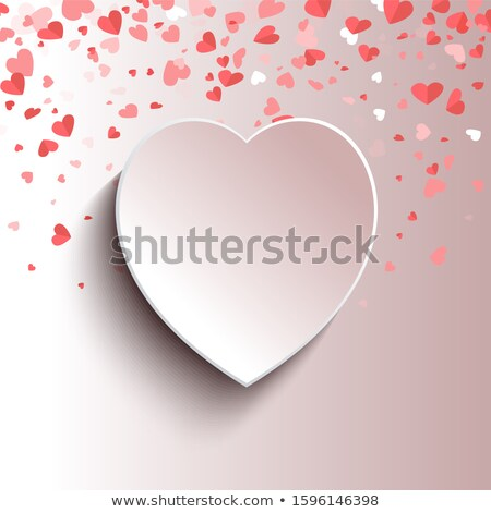 heart shape 3d frame spare place for text isolated stock photo © robuart