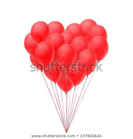 幸せ · バレンタインデー · 実例 · 赤 · 中心 · バルーン - ストックフォト © olehsvetiukha