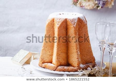 Stockfoto: Italiaans · christmas · cake · vruchten · groep