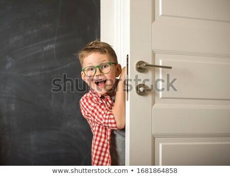 şaşırmış · çocuk · erkek · el - stok fotoğraf © dolgachov