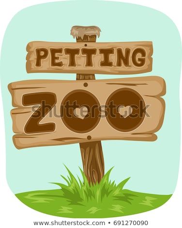 Petting Zoo Sign Board Stock photo © lenm