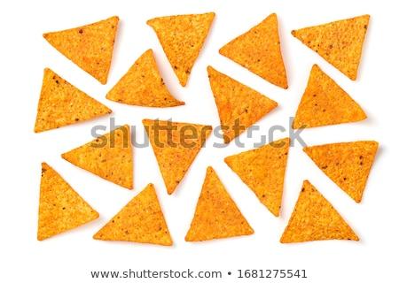 meksika · yemekleri · karışık · nachos · çili · sos · çedar - stok fotoğraf © furmanphoto