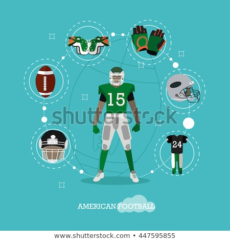 american football flat concept icons stock photo © netkov1