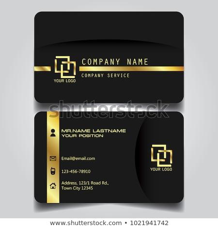 Blanco oro prima tarjeta de visita plantilla negocios Foto stock © SArts