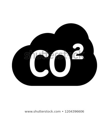 szén · szennyezés · felirat · izolált · fehér · fekete - stock fotó © kyryloff