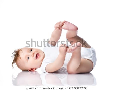 happy baby discovering the world stock photo © anna_om