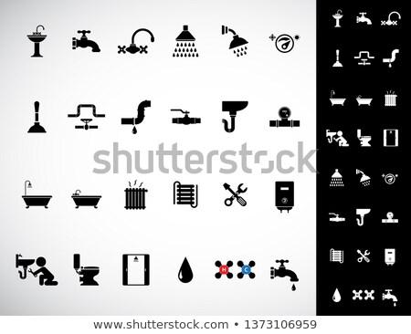 Bathroom siphon icon Stock photo © angelp