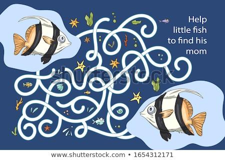 underwater fish game template stock photo © colematt