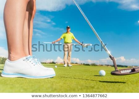 mężczyzna · golfa · skupić · piłeczki · do · golfa · selektywne · focus · golf - zdjęcia stock © kzenon