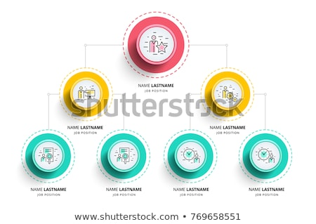 Organizational Structure, Company Organogram, Flowchart Vector Layout Stock photo © pikepicture