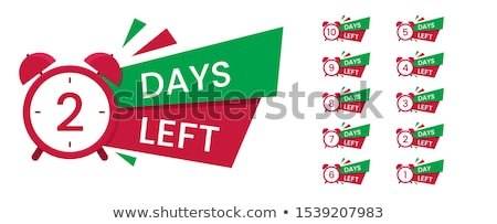 number of days left red tag banner Stock photo © SArts