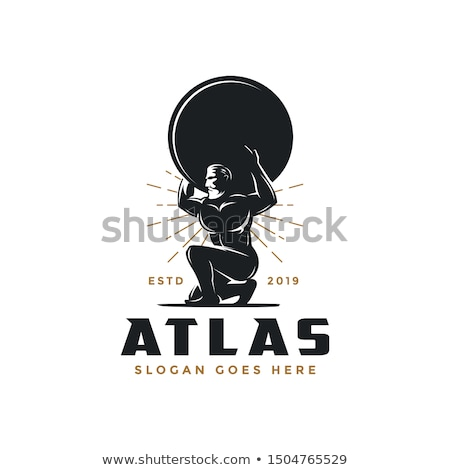 Greek Mythology Atlas Illustration Stock photo © Krisdog