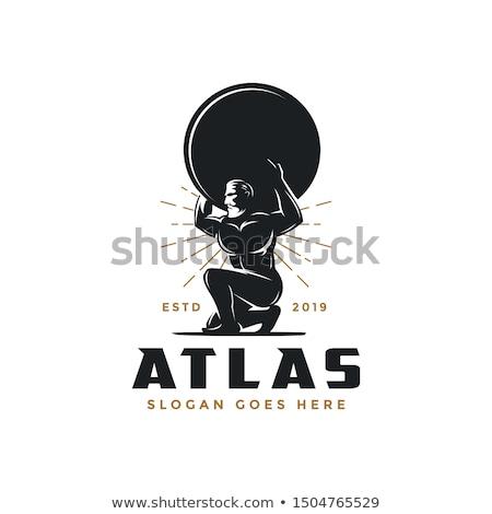 greek mythology atlas illustration stock photo © krisdog