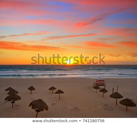 カンクン 日の出 早朝 メキシコ 休暇 カリビアン ストックフォト © jsnover