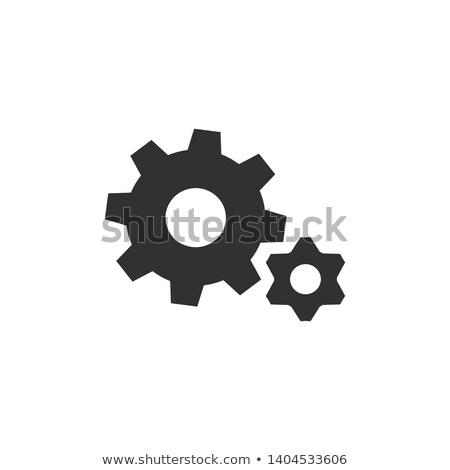 ギア · ホイール · シンボル · ベクトル · 黒 · 歯 - ストックフォト © kyryloff