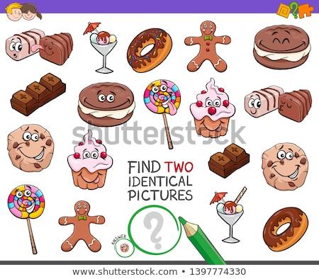 talál · kettő · azonos · édesség · feladat · gyerekek - stock fotó © izakowski