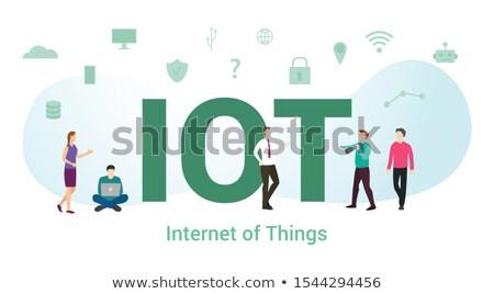 IOT abbreviation illustration Stock photo © Spectral