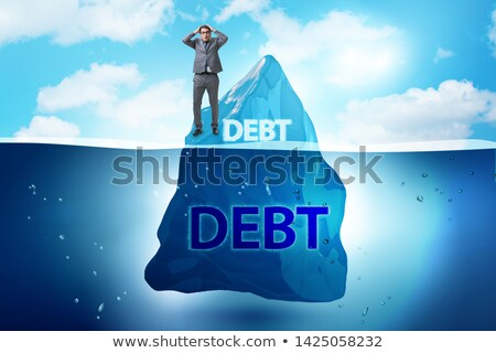 Debt and loan concept with hidden iceberg Stock photo © Elnur