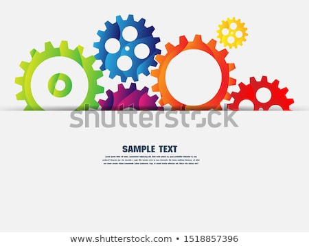 white background with 3d gears and text space Stock photo © SArts