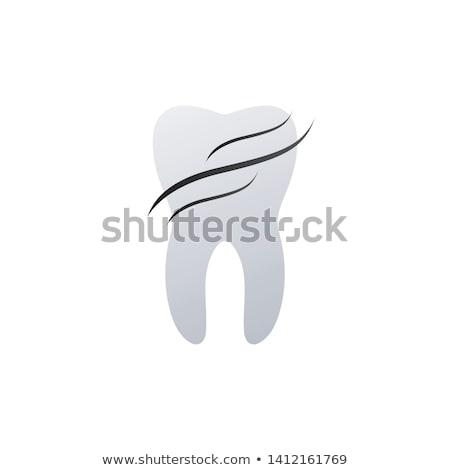 Dente dental logo design onde salute protezione Foto d'archivio © kyryloff