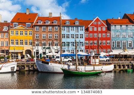Rua cidade velha Copenhague Dinamarca histórico casas Foto stock © borisb17