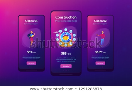 Building information modeling app interface template. Stock photo © RAStudio