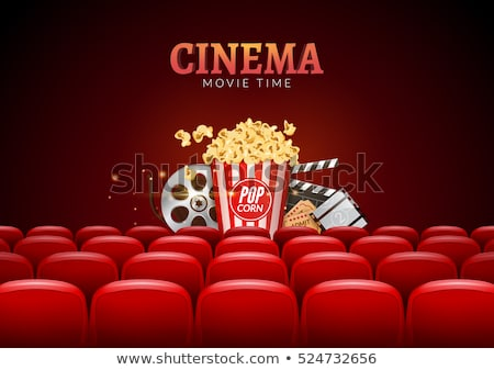 Theatre and Cinema Ticket with 3d Glasses Stripe Stock photo © robuart