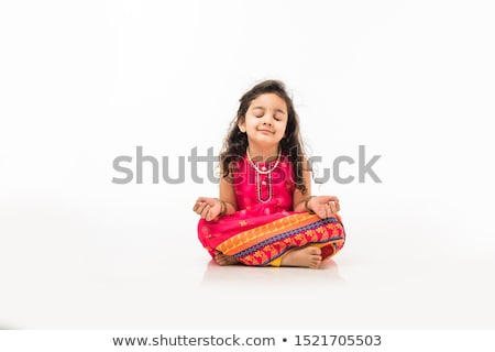 Happy little girl meditates  Stock photo © Lopolo