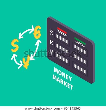 Currency Exchange and Table of Money Market Icon Stock photo © robuart