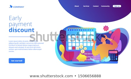 Early payment discount concept landing page Stock photo © RAStudio