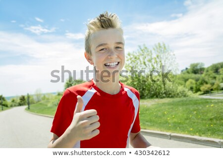 подростков мальчика запустить за пределами день свет Сток-фото © Lopolo