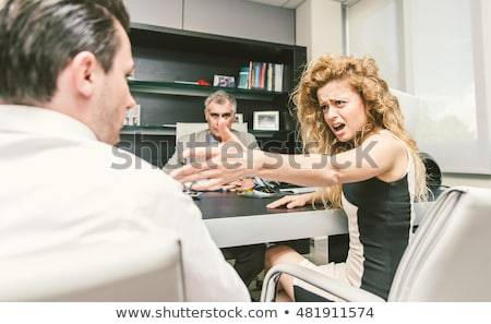 couple fighting in the lawyer office stock photo © andreypopov