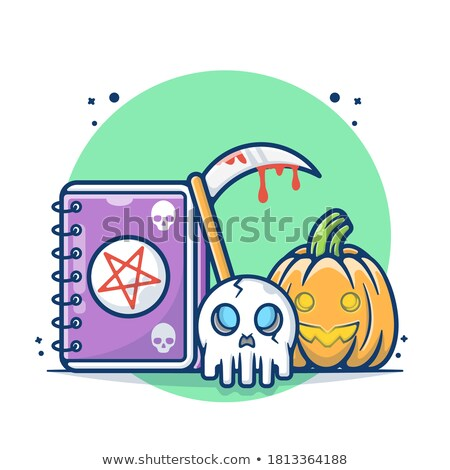 halloween · Mexicaanse · suiker · schedel · cartoon · iconen - stockfoto © cienpies