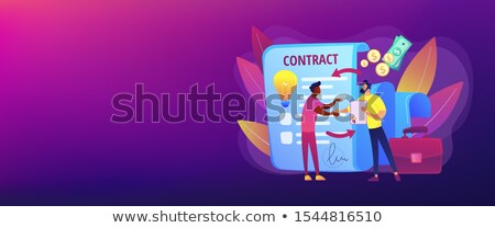 Licensing contract concept banner header Stock photo © RAStudio