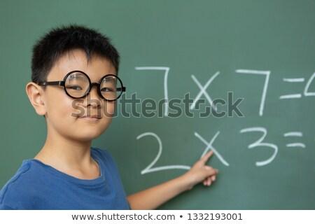 フロント 表示 スマート アジア 男子生徒 数学 ストックフォト © wavebreak_media