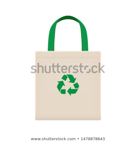 Foto stock: Reciclar · bolsa · calentamiento · global · diseno · compras · signo