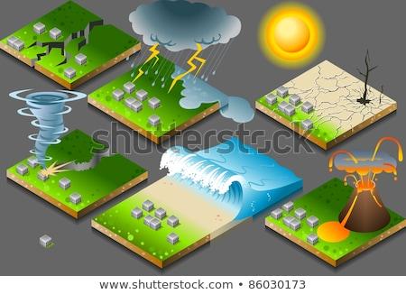 Natural disaster vector concept metaphors Stock photo © RAStudio