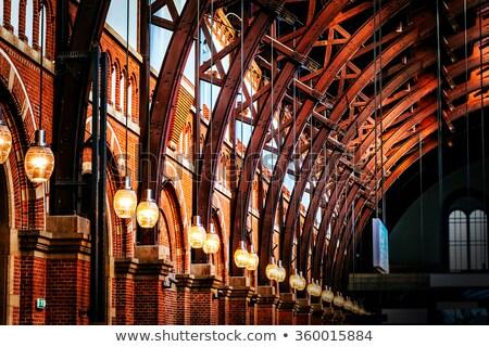 Copenhague central estação Dinamarca pormenor viajar Foto stock © boggy