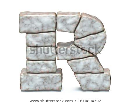 Rock masonry font letter A 3D Stock photo © djmilic