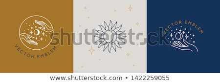 Vector abstract logo templates of hands with moon and stars Stock photo © ussr