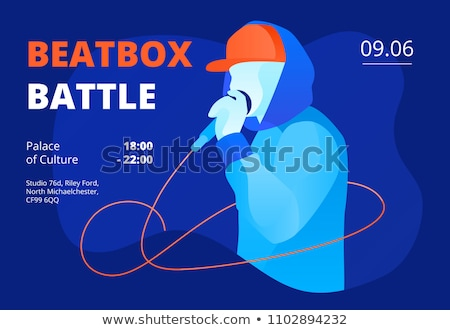 Rap bataille style public illustration musique Photo stock © jossdiim