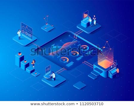 Calendar and Teamwork for Digital Marketing Vector Stock photo © robuart