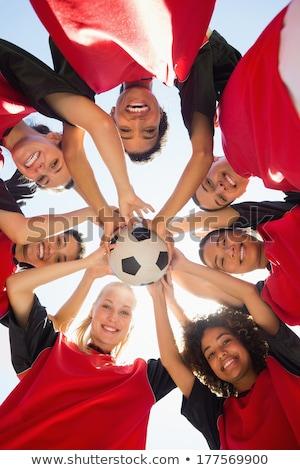 выстрел группа спортивная команда рук Открытый Сток-фото © matimix
