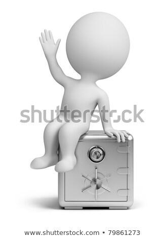 3d small people - reliable safe Stock photo © AnatolyM