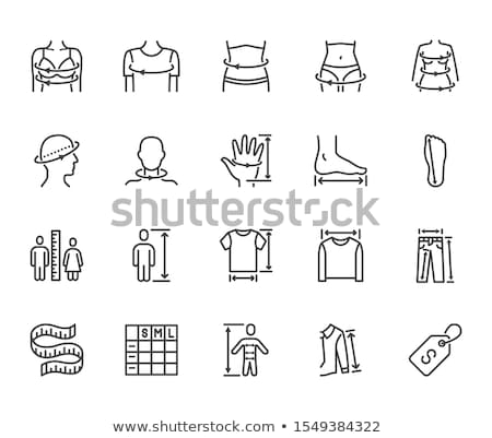 human height measurement icon vector outline illustration Stock photo © pikepicture