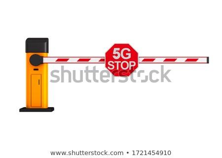 Gesloten automatisch teken stoppen witte geïsoleerd Stockfoto © ISerg
