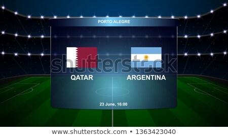 Katar vs Argentinien Fußball Spiel Illustration Stock foto © olira