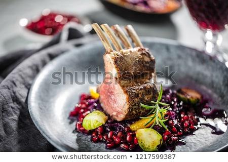 гриль ягненка мяса растительное синий Сток-фото © olira