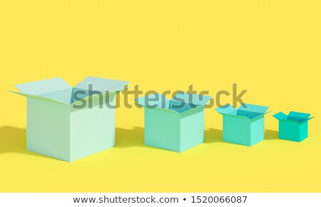 Yellow container different sizes and shapes Stock photo © jossdiim