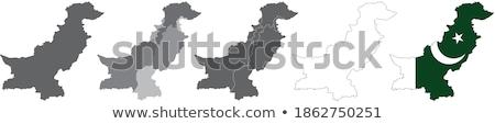Pakistan land silhouet vlag geïsoleerd witte Stockfoto © evgeny89